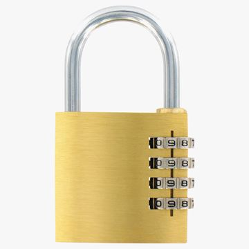 Picture of 4 Digit Brass Padlock