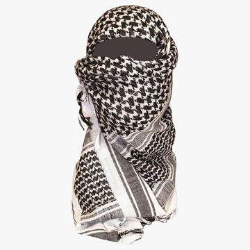 Picture of Shemagh Scarf Black/White
