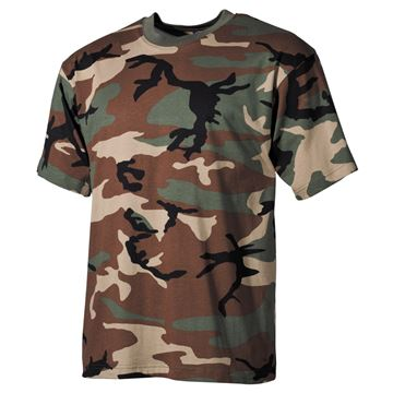 Picture of US Woodland Print T-Shirt